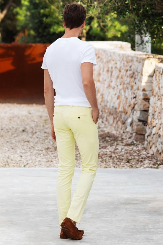Pastel Yellow Chinos