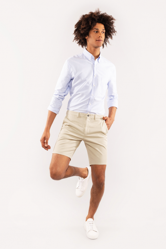 Light Beige Bermuda Shorts