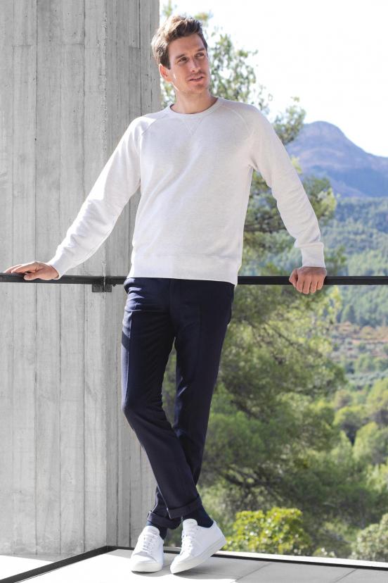 Navy Blue Wool Flannel