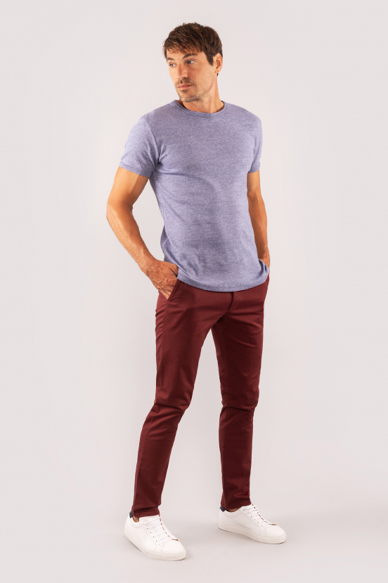 Dark Burgundy Chinos
