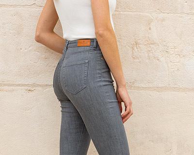 LePantalon femme jean taille haute